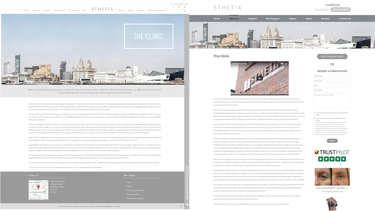Sthetix Inner Page Re-Design